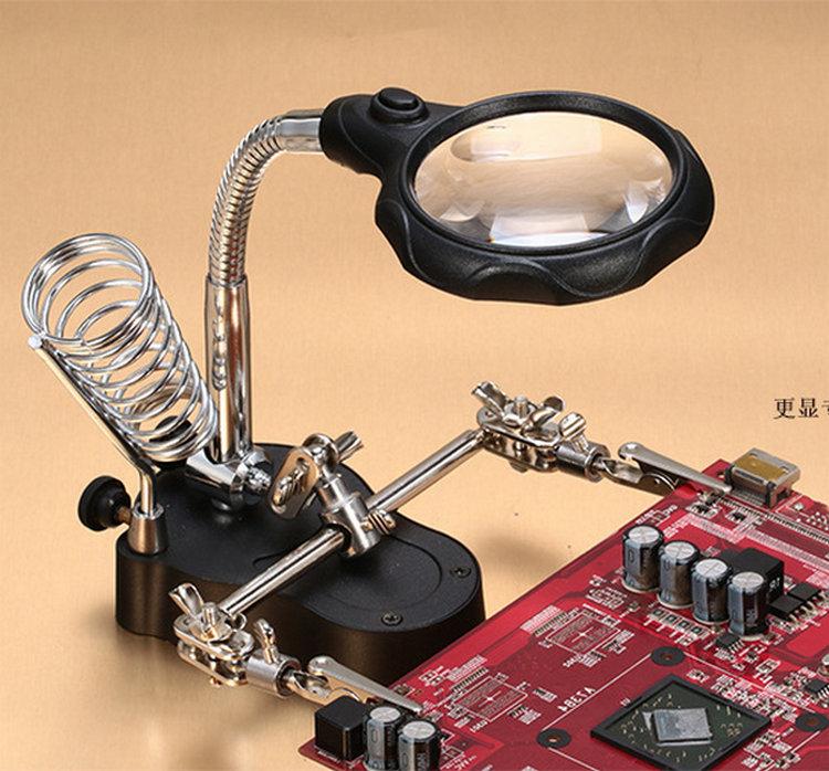 卓上スタンドの携帯電話の修理修理の師匠の専用のベルトの鋏30倍の拡大鏡