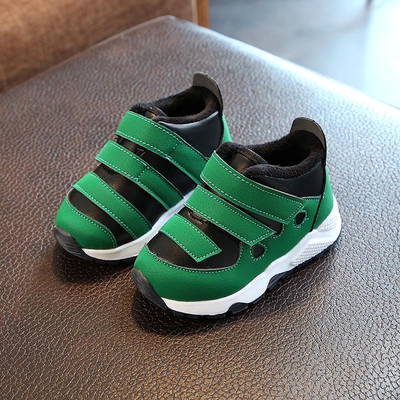 2017秋冬儿童鞋男童运动鞋1-2-3岁幼儿学步鞋加绒棉鞋小童保暖鞋