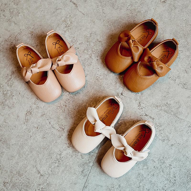 女童奶奶鞋2017秋款防滑软底宝宝单鞋1-3岁韩国4-7小女孩豆豆鞋潮