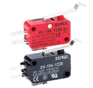 Genuine XURUI micro switch XV-154-1C25R type micro switch contact silver handle long life
