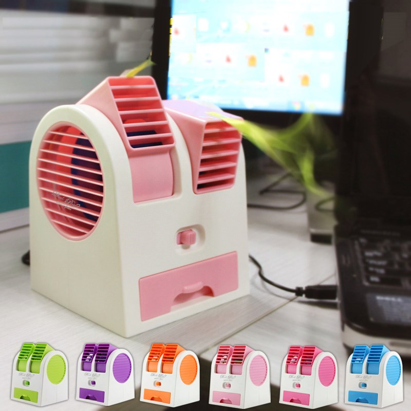The new post cold air conditioning fan with small fan creative car USB Mini silent small desktop