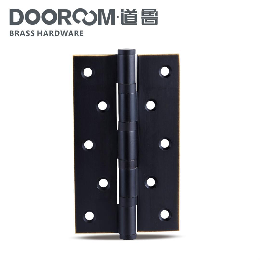 The 4 inch copper Daru thickening 5 inch flat open door hinge mute wood 100 pages Black Retro white copper