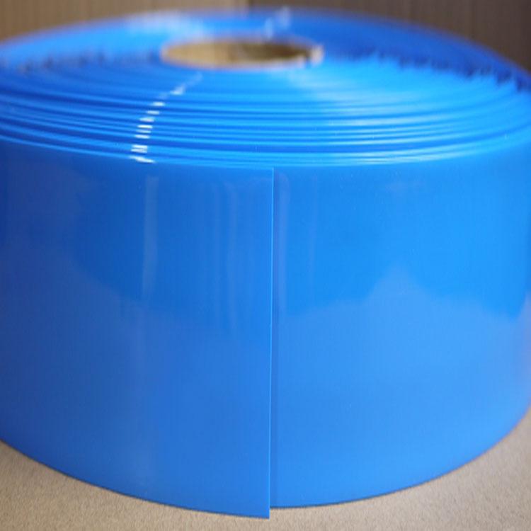 Tubo de PVC transparente de ancho 430mm azul