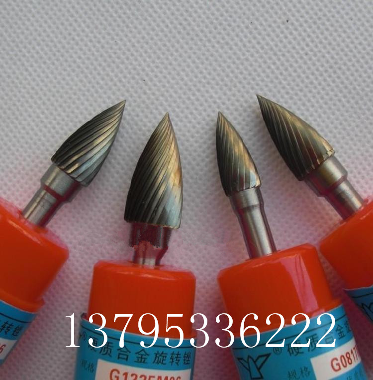 Tungsten carbide rotary burrs grinding cutter and reamer tip arc type G