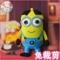Free cutting / manual DIY animation nonwoven materials package thief daddy despicable me small yellow Man Doll Pendant