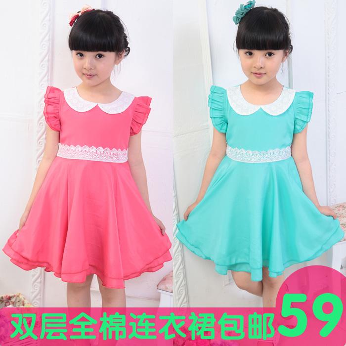 热款夏季新款女童连衣裙儿童公主裙淑女裙女孩大摆裙新款特价