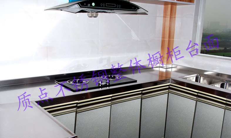 9 stainless steel whole cabinet, 304 stainless steel table, cabinet door, kitchen cabinet, basket, kitchen cabinet, customized kitchen cabinet table