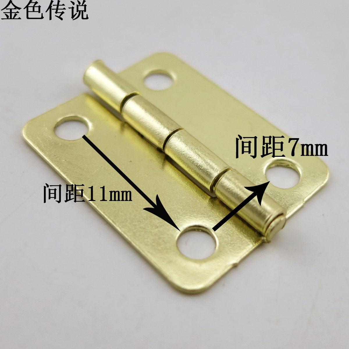 2.3*1.9 латунь складные мини - мини - небольшой петли крепления diy ремесла деревообрабатывающий модели оборудование