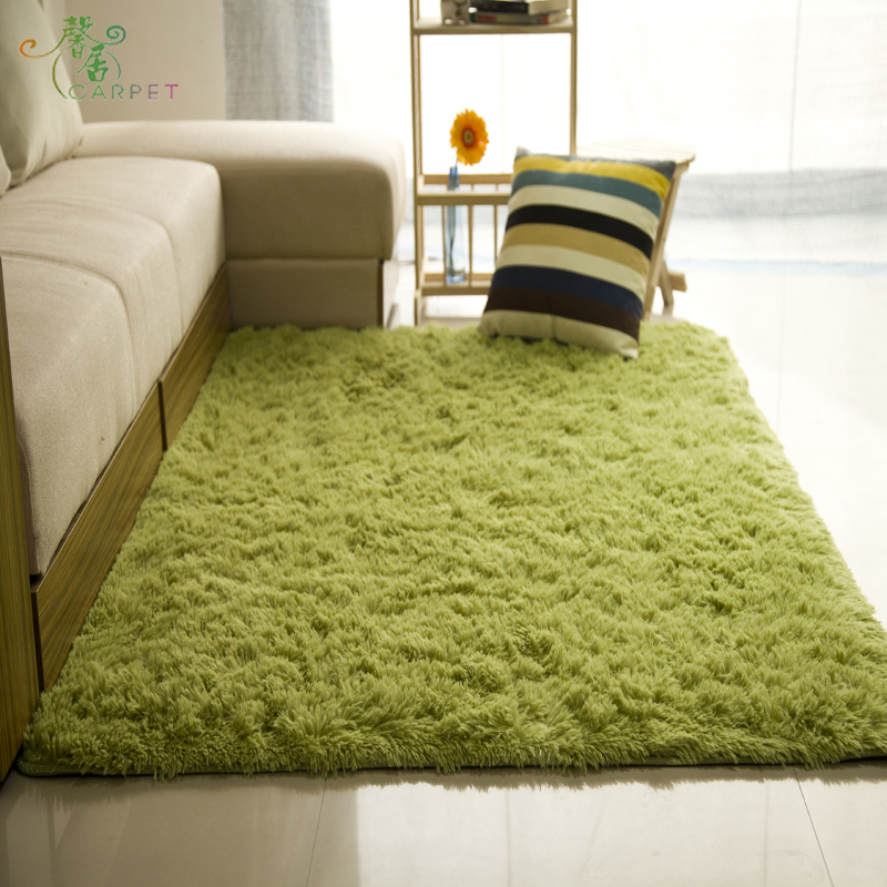Customizable thickened washable silk carpet is not fade the living room coffee table bedroom bedside couch cushion