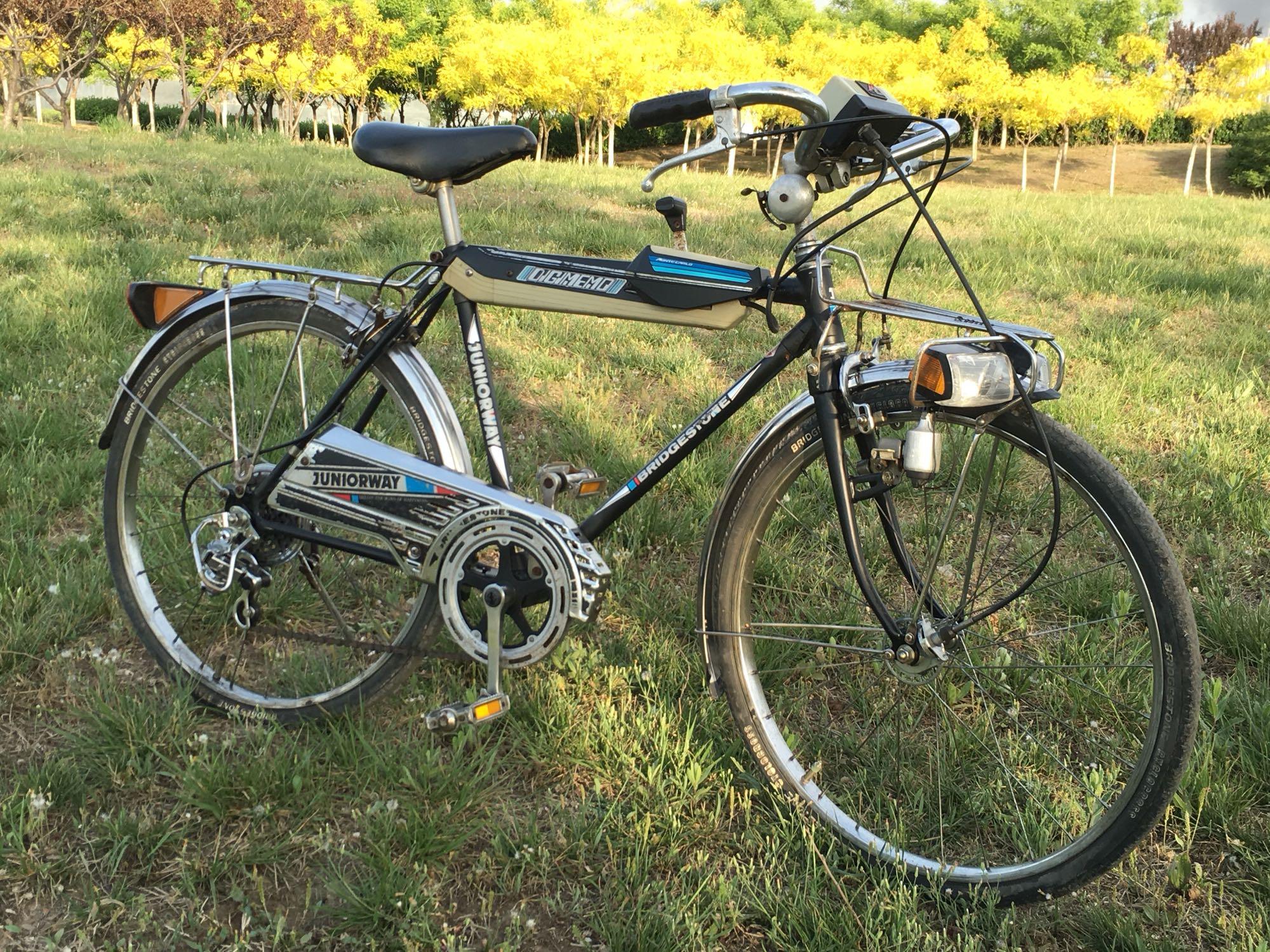 El vehículo de segunda mano de bicicletas de lujo japonés Bridgestone Josh variable de 5 velocidades de excursión el auto tipo 22
