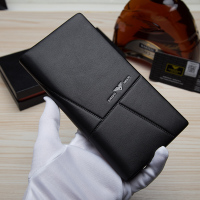 Handmade seventy percent off DIY men's purse, genuine leather wallet, custom made leather Tan wallet material package