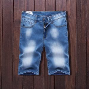 弹力男士牛仔短裤夏季薄款五分裤男5分休闲马裤夏天七分裤中裤501
