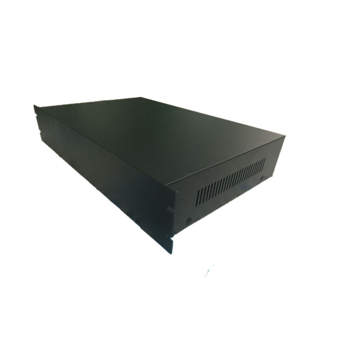 じゅうくインチ2U型ネットワークラック黒ブリキの殻のアルミパネルケースの88 * 482.6 * 200 / 250 / 300