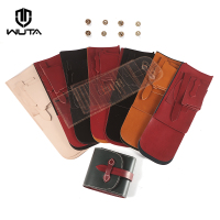 19WT large capacity bag, zero wallet material, short bag, semi package DIY leather leather W