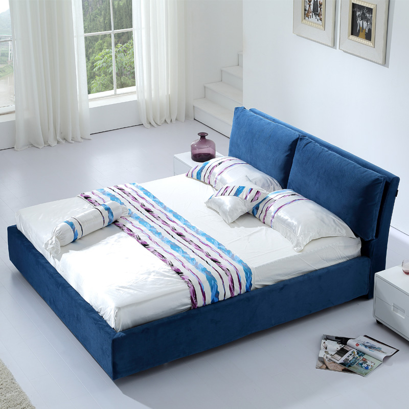 Large-sized apartment washable fabric bed 1.5 meters 1.8 meters double the Nordic modern minimalist fashion wedding bed bed