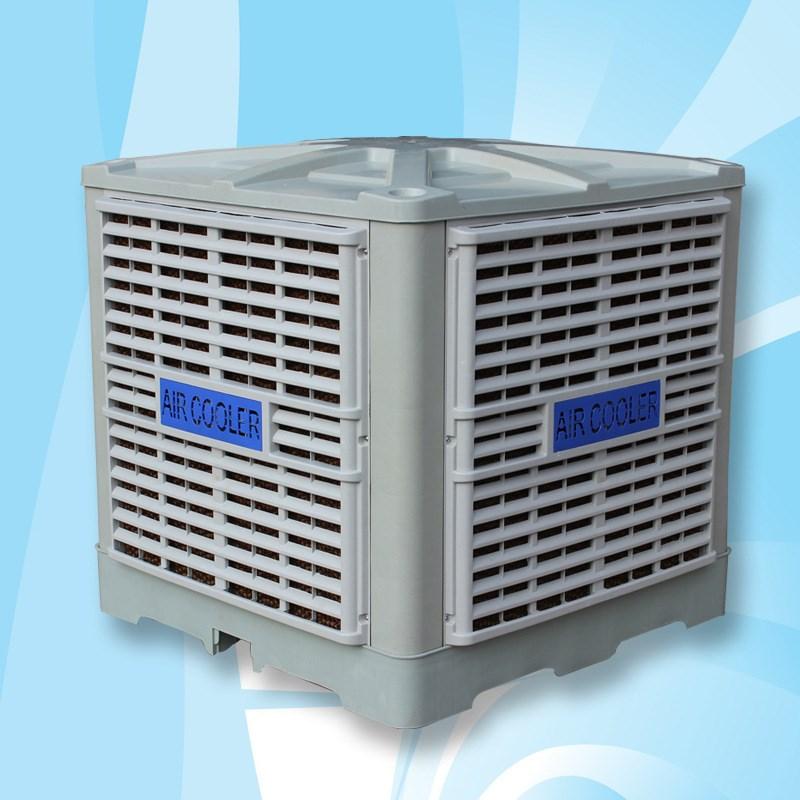 Βιομηχανική ψύκτης αέρα εξάτμισης τύπου νερό ψύξης, κλιματισμού κρύο το νερό το κλιματιστικό, προστασία του περιβάλλοντος βιομηχανικά εγκαταστάσεις ψύξης κλιματισμού φαν
