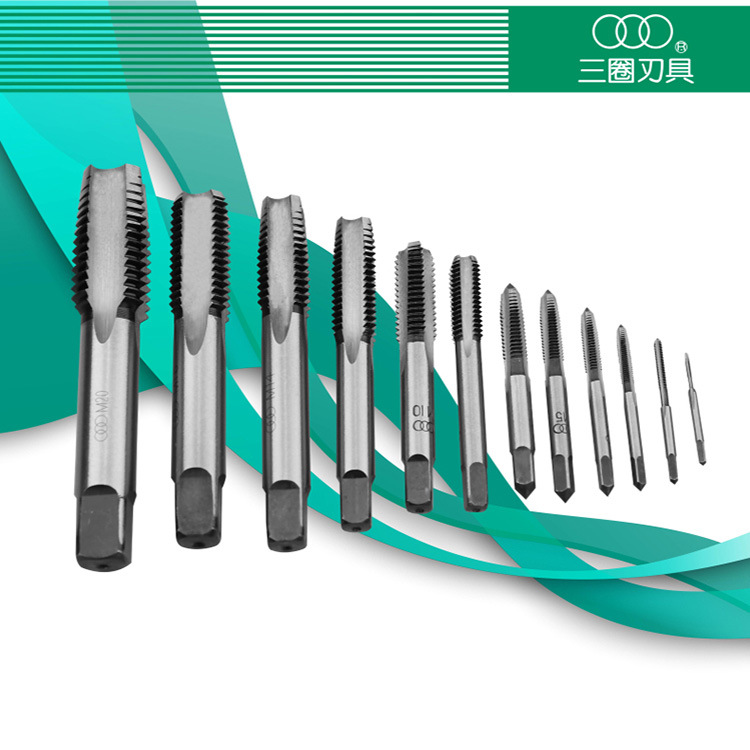Genuine three laps / edge hand tap head / two attack M2*0.4 alloy tool steel tapping for coarse / fine handle