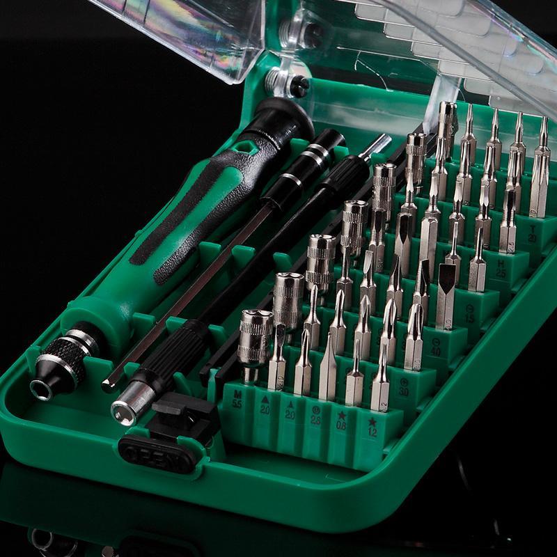 La Famiglia di cacciavite Multi - funzione di riparazione di Elettrodomestici combinazione contenente un cellulare a forma di Lotto di Gadget di Viti.