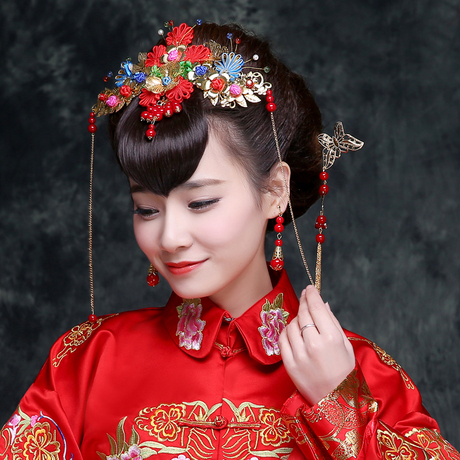 Chinese headdress wedding