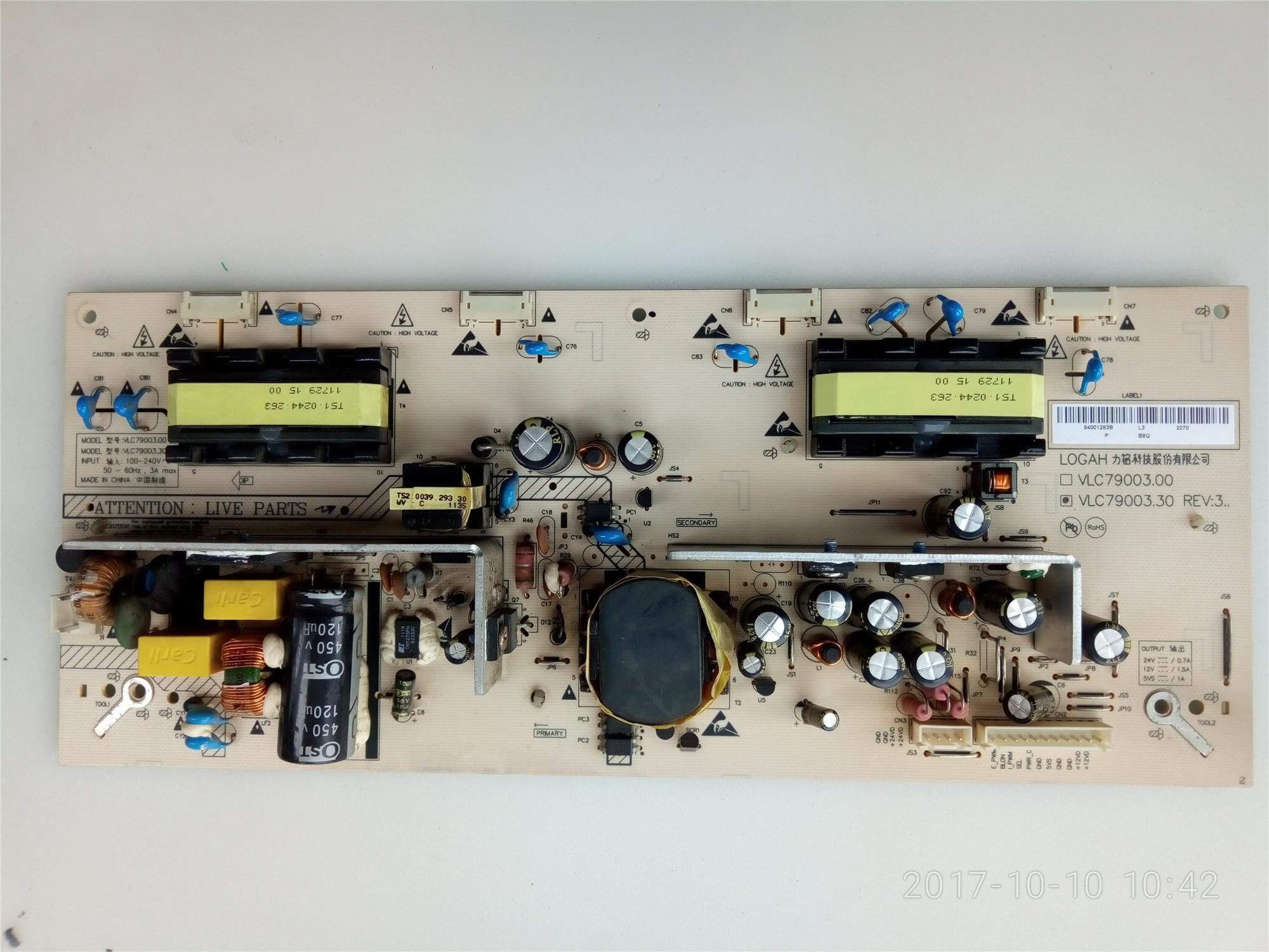 Haier L26R3L26B1L26K1ALU26F6L26F télévision à cristaux liquides, une plaque d'alimentation VLC79003.00