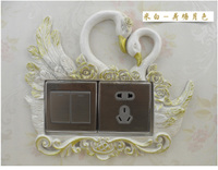 Double wall switch with double switch switch with European angel sculpture style wall