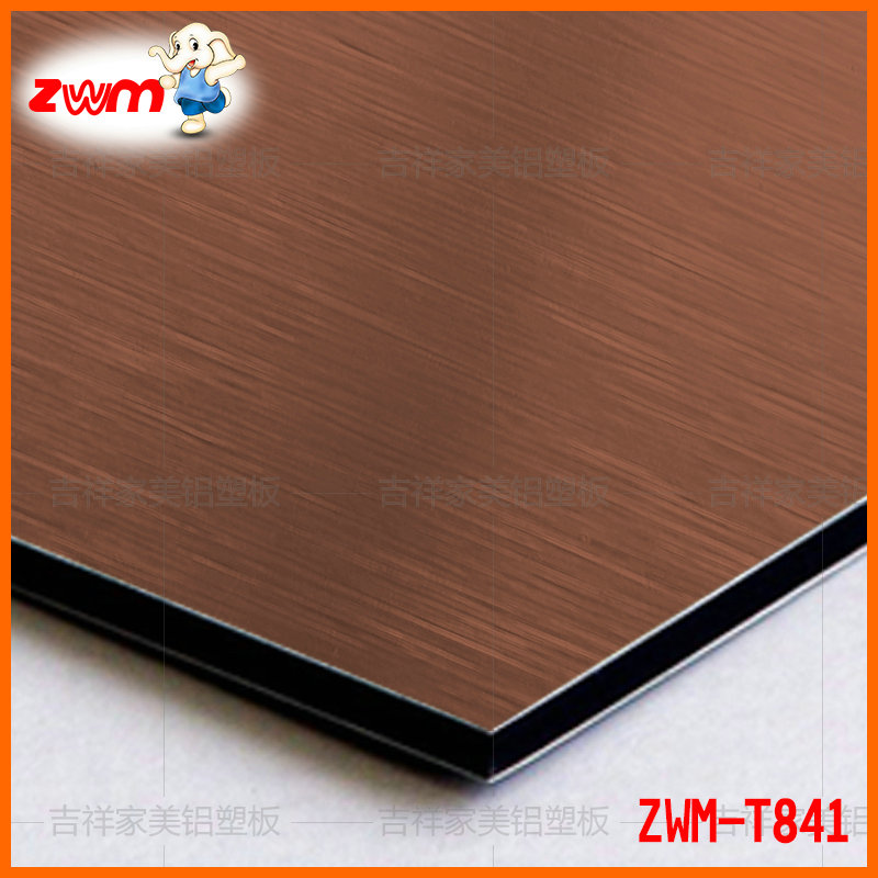 Auspicious 10 wire 3mm raw aluminum plate copper wire drawing aluminum plate wall wall advertising background sopraporta