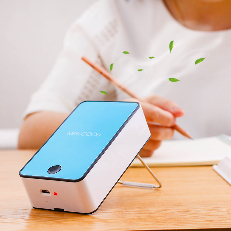 AR condicionado silencioso ventilador de mesa Mini estudante do portátil Mini ventilador Mini ventilador de plástico EM forma de u