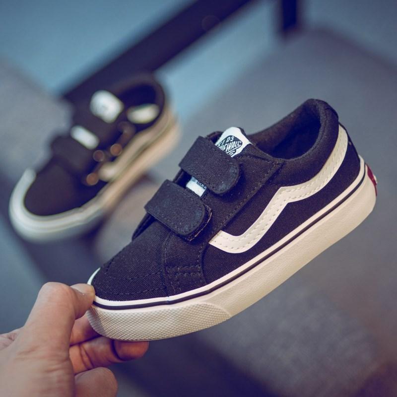 小白布鞋儿童帆布鞋男