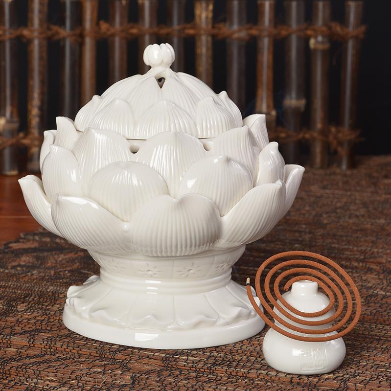 кадило ладан включить освятить Lotus сандалового дерева Ароматерапия печь печь керамики домашнего интерьера спальни домашнего декора
