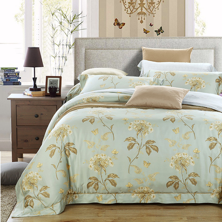 Jalice genuine high-end textile 100% sided 80 Tencel four piece luxury bed linen bedding