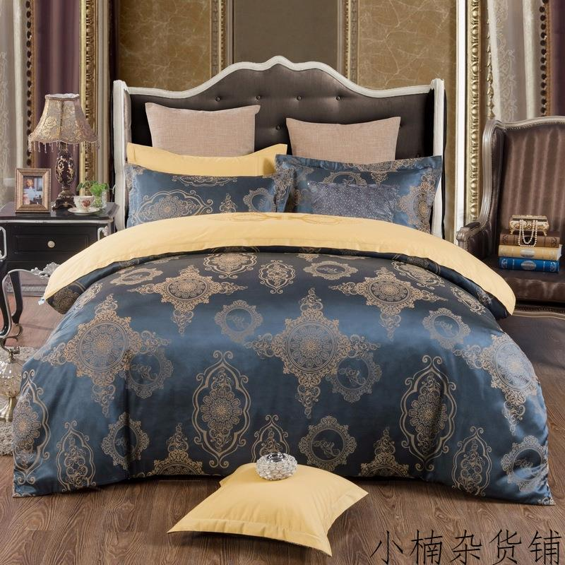 Cotton Satin Jacquard sheets and Cathy models fitted models of four sets of double red wedding bedding