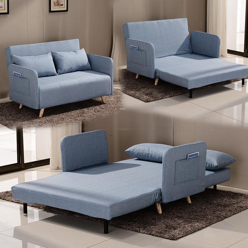 多機能ソファベッド1 . 5メートルの布で折りたたみシングル1 . 2メートル単ペア洗い張り両用客間