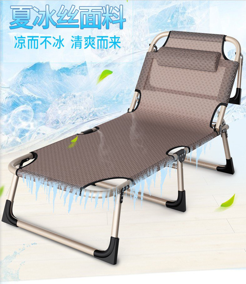 Portable folding bed single bed breathable mesh office chair folding bed lunch lunch nap camp bed