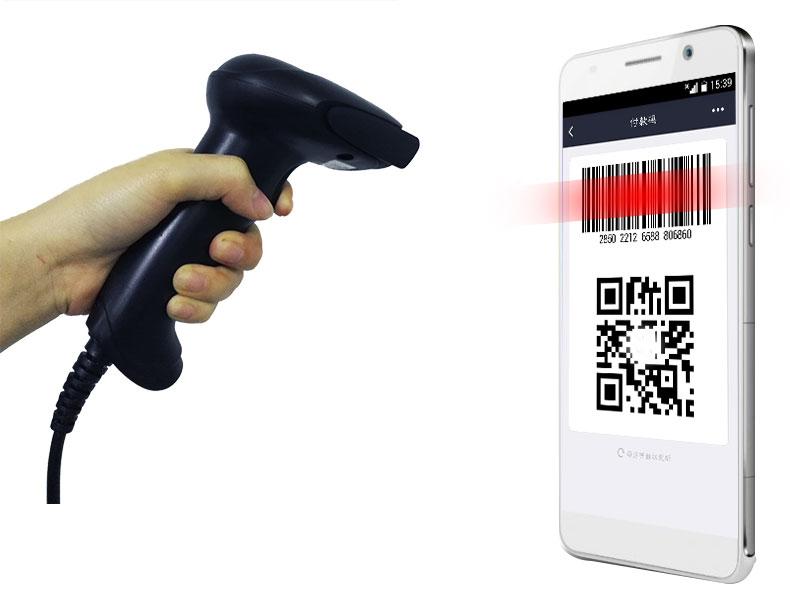 красный код лазерного сканирования штрих - код сканирование пистолет пистолет экспресс микро - Письмо alipay экран супермаркет