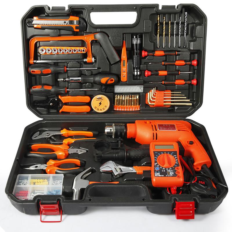 Manuale di cassetta di Legno rivestiti di Hardware domestici Multi - funzione di manutenzione Insieme completo del Pacchetto di strumenti Elettrici