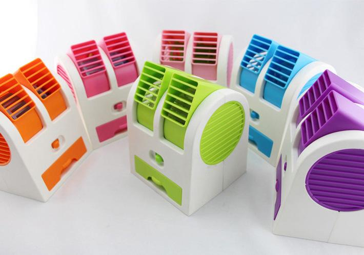 Air conditioning fan cooling fan cooling and warming dual-purpose ultra quiet air conditioning refrigeration cooling fan small mobile Mini