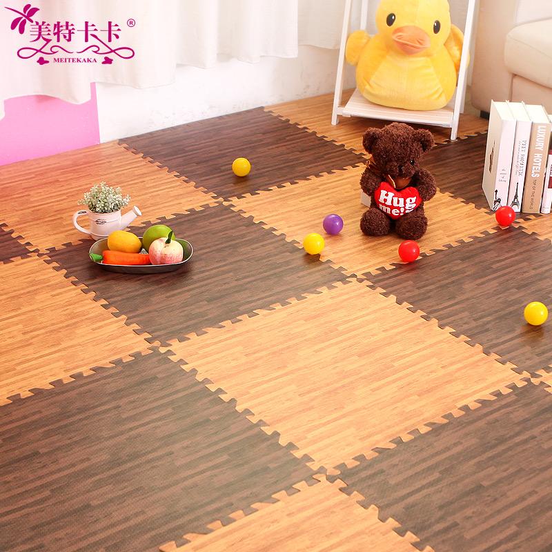 Wood mats thickened mosaic floor mat children crawling pad pad pad 60 tatami climbing puzzle