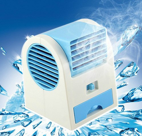 mini hladilne vode na mini - električni su mali električni ventilator klimo ustvarjalnih prenosni ventilator mala usb, hladno