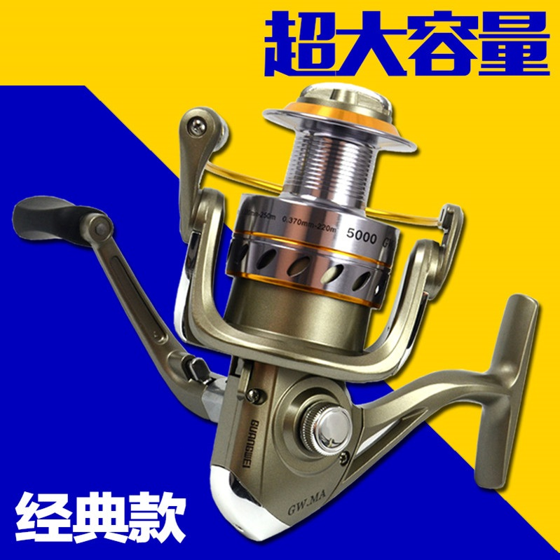 3 water wheel road Yalun hitting the wheel raft fishing wheel lightweight magnetic brake wheel spinning wheel rod shot line