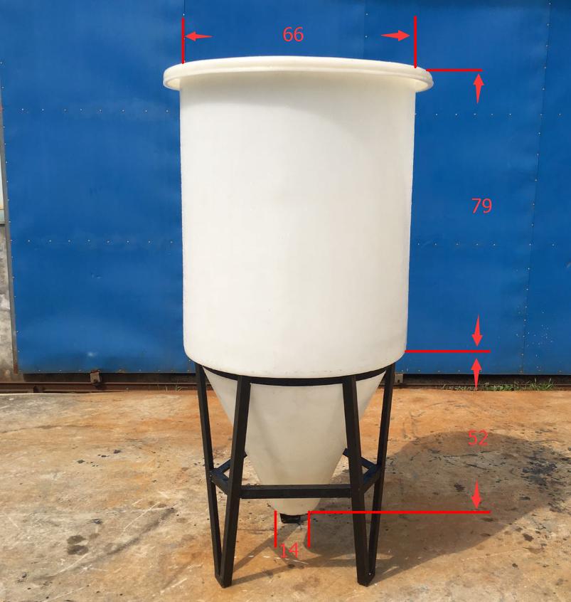 Korrosionsschutz gegen säure - base - Verkauf eingeführten PE material CMC-120L konischen Kleinen Chemischen flüssigkeit pestizide gerührt.