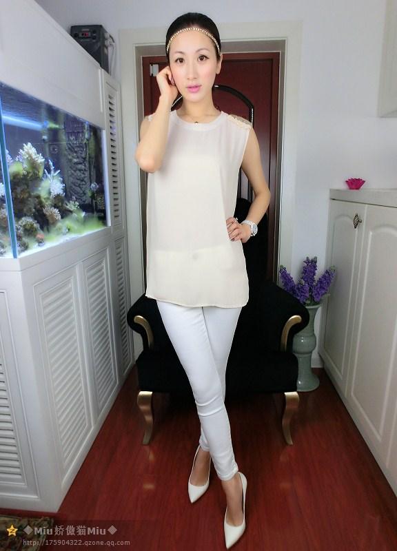 2014新款女鞋 独家玫粉色尖头高跟鞋 细高跟OL职业鞋图片_10