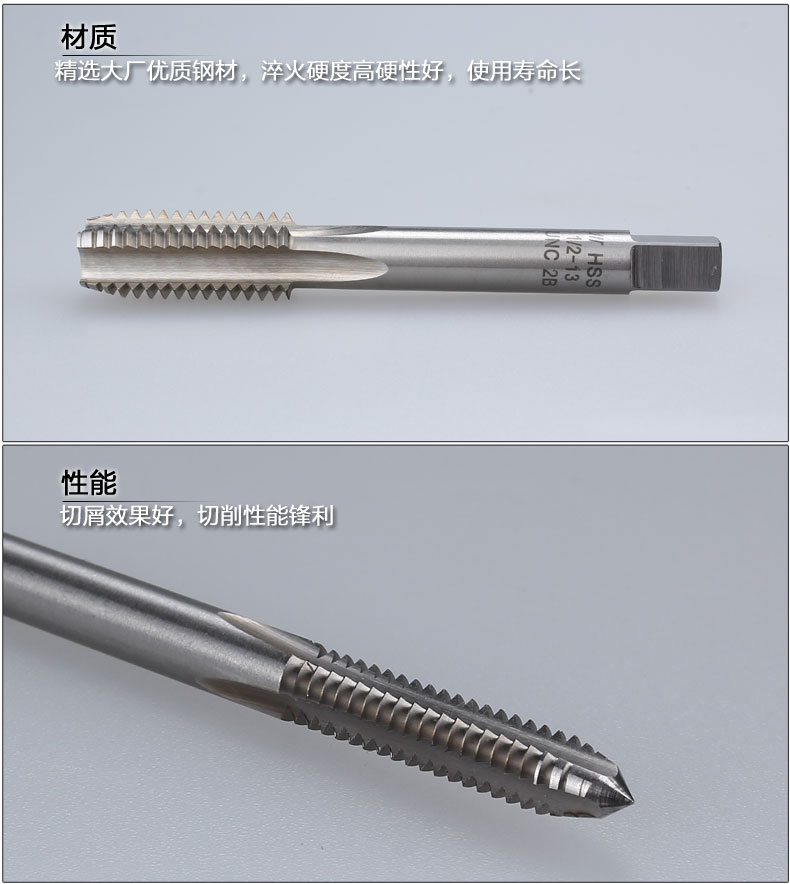 Tap tap 7/16-28UNEF-32UN-36UNS-40UNS high speed steel production made straight slot machine