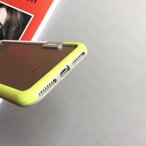 拼色边框iphone7手机壳苹果6plus硅胶保护框6s简约防摔壳韩8X全包