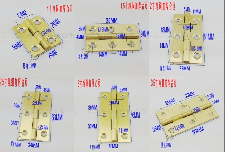 The quality of the exported copper hinge hinge 3.5 inch thick copper Mini hinge cabinet door hinge hinge copper core