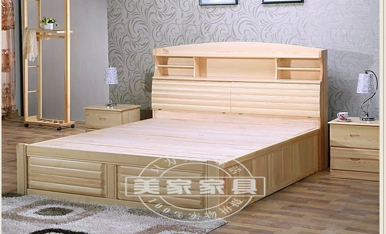 Factory direct practical models 1.8 meters 1.5 meters double bed double bed special offer sales of environment-friendly wood