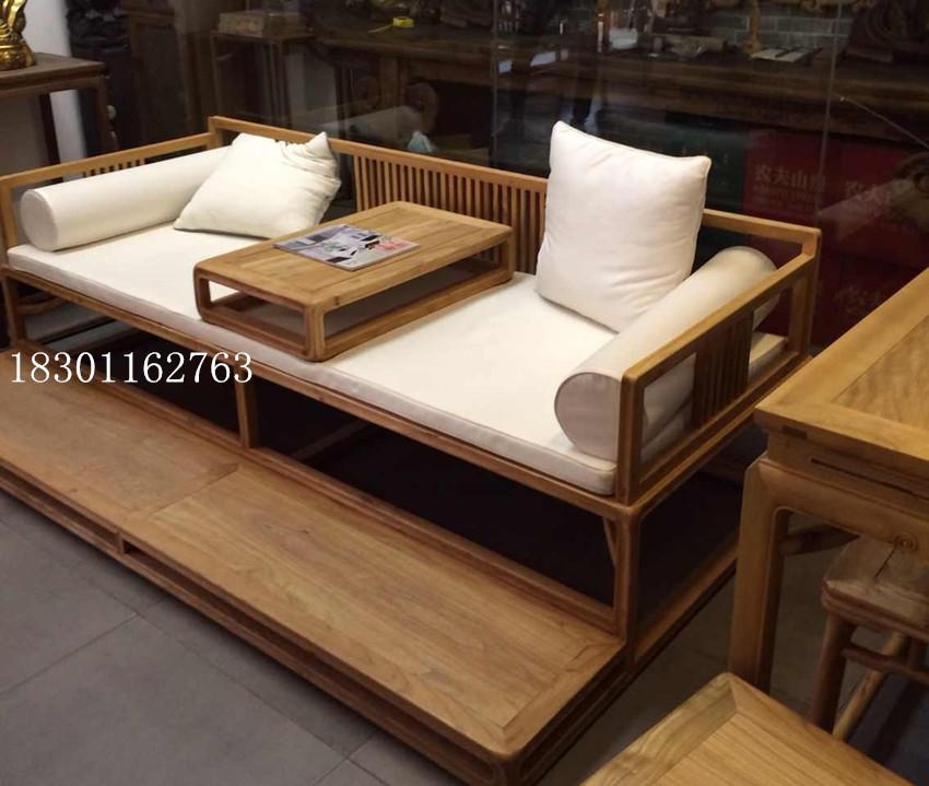 粗玉木禪の教えにも少なからず新中国式ベッド老楡免漆羅漢美人畳もありアンティーク家具材のソファー