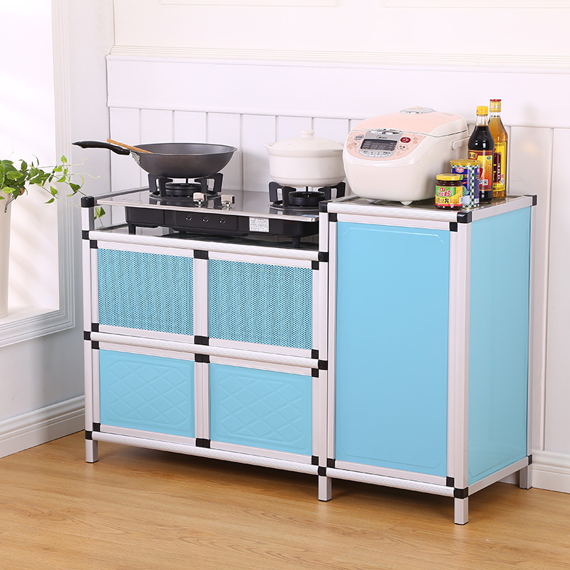 Easy gas cabinet cabinet kitchen stove cabinet cabinet cabinet Jane meal living room side cabinet stainless steel tea cupboard