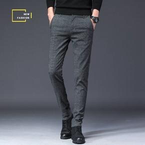 伊之典范2019新款男士裤子男春夏款休闲裤男装修身直筒韩版长裤子