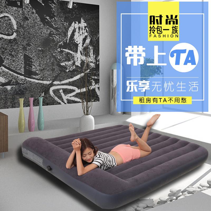 Intex outdoor air bed siesta cushion thickened double bed sheets flocking car air mattress
