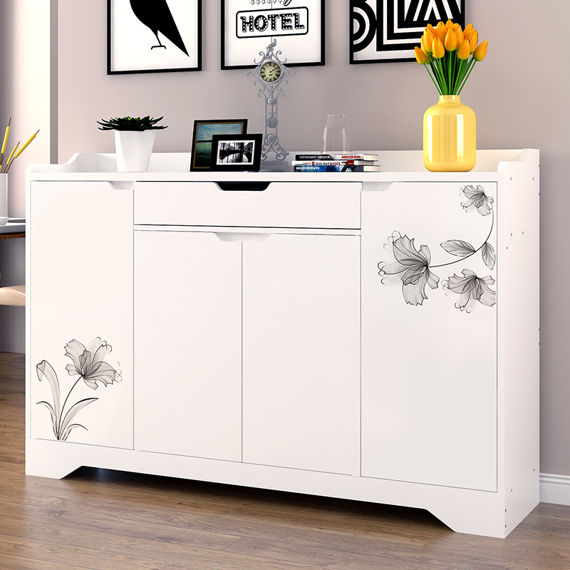 Special offer domestic shoe cabinet painted doors of the cabinet is simple and modern wooden shoe cabinet pastoral combination shoe rack